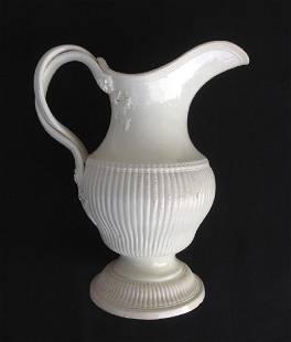 18th C English Creamware Ewer, J&C Whitehead, Hanley