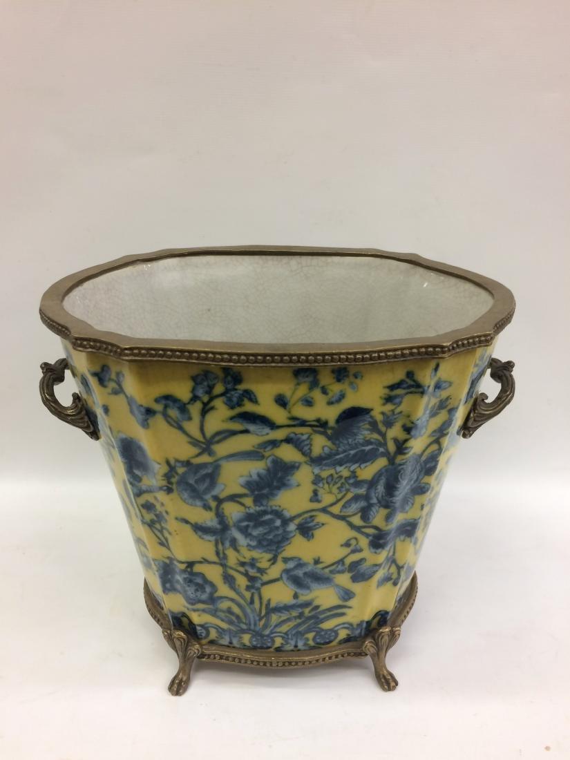 European Porcelain Vase with Floral and Bird Design - 2