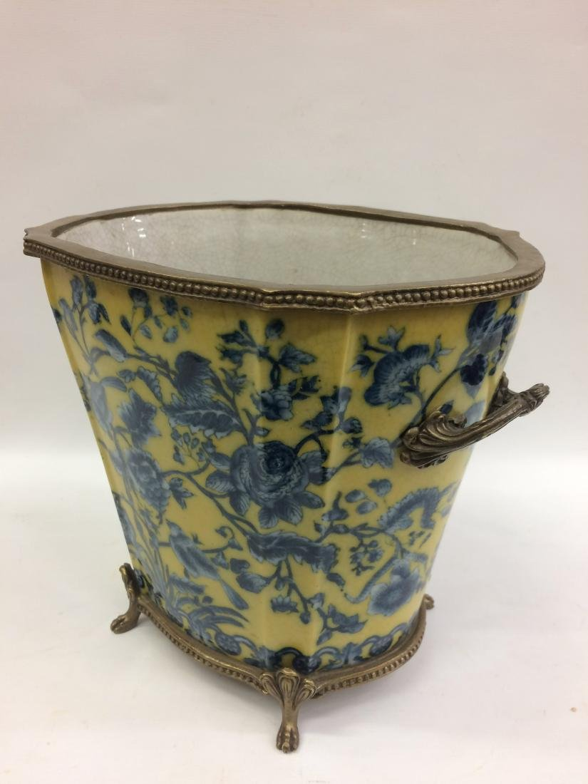 European Porcelain Vase with Floral and Bird Design - 3