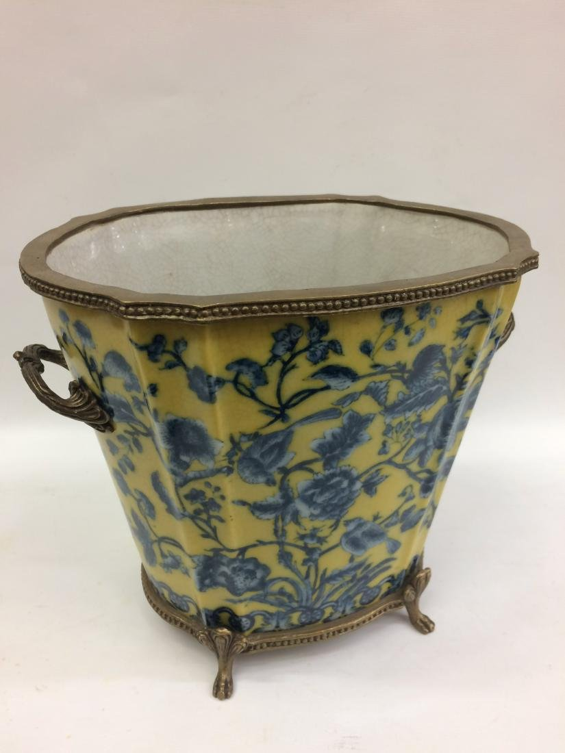 European Porcelain Vase with Floral and Bird Design - 4