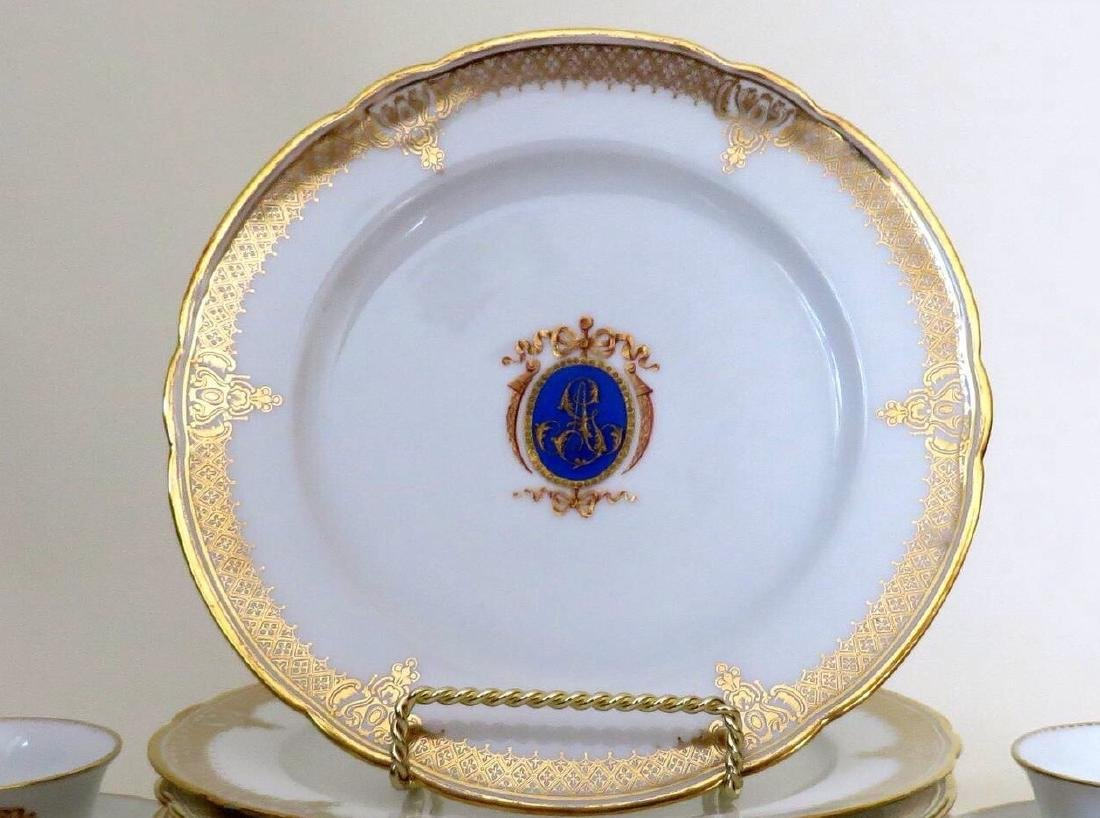 18 Pieces of Louis-Philippe Paris porcelain dinnerware - 4