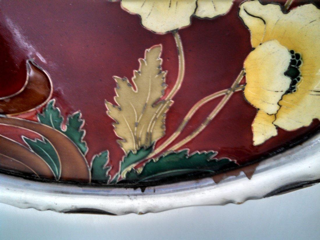 Carl Sigmund Luber Art Nouveau Ceramic Tray - 2