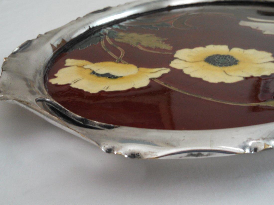 Carl Sigmund Luber Art Nouveau Ceramic Tray - 5
