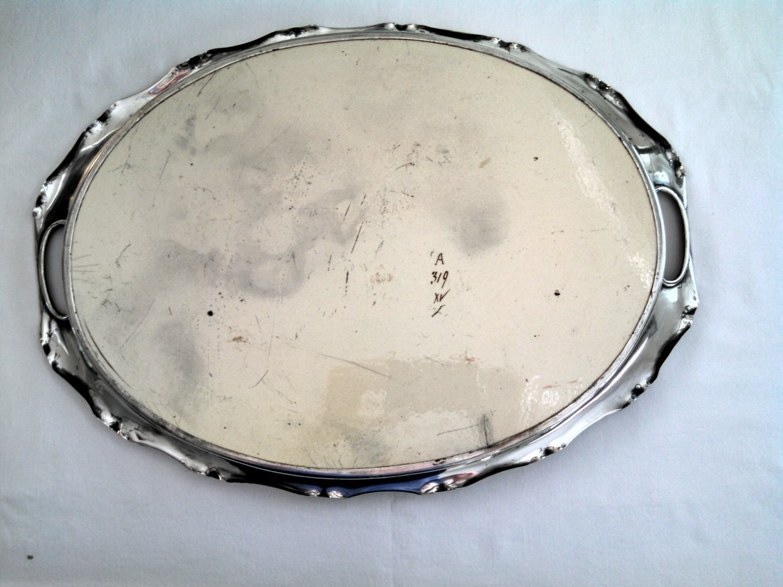 Carl Sigmund Luber Art Nouveau Ceramic Tray - 6