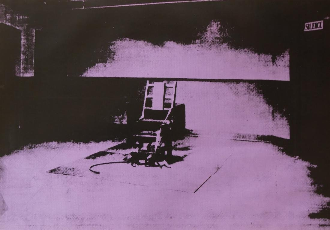 Andy Warhol: Electric Chair Silkscreen