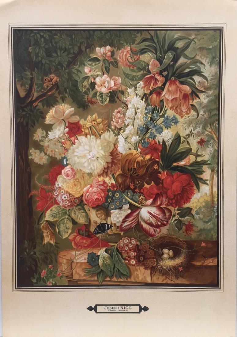 Joseph Nigg: Floral Still Life Chromolithograph, 1860