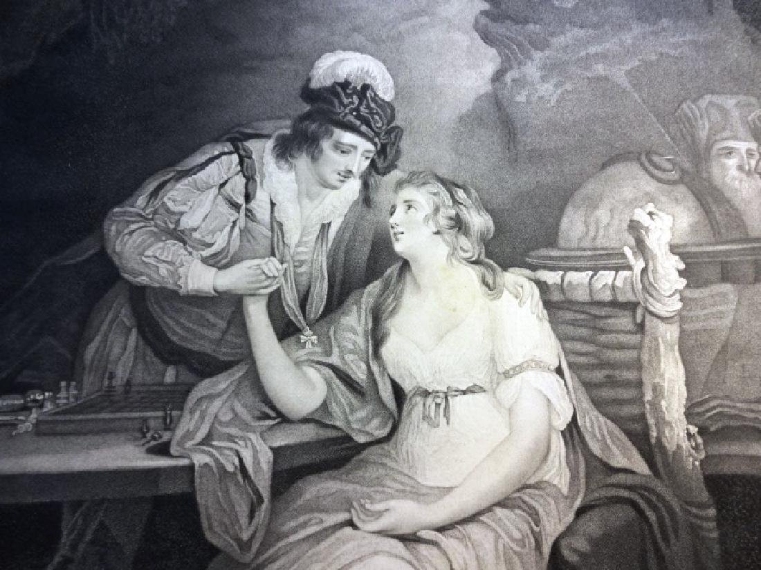 Boydell Engraving from Shakespeare The Tempest, 1795