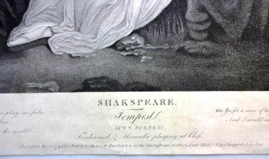 Boydell Engraving from Shakespeare The Tempest, 1795 - 3