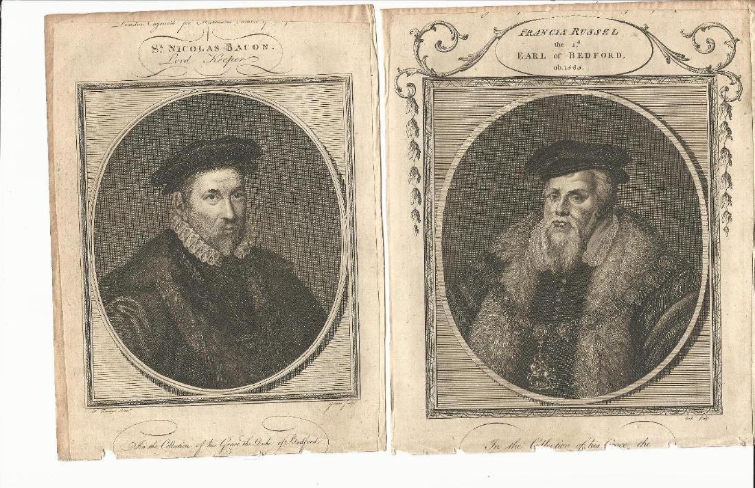 Four Engraved Portraits Tudors, 1785