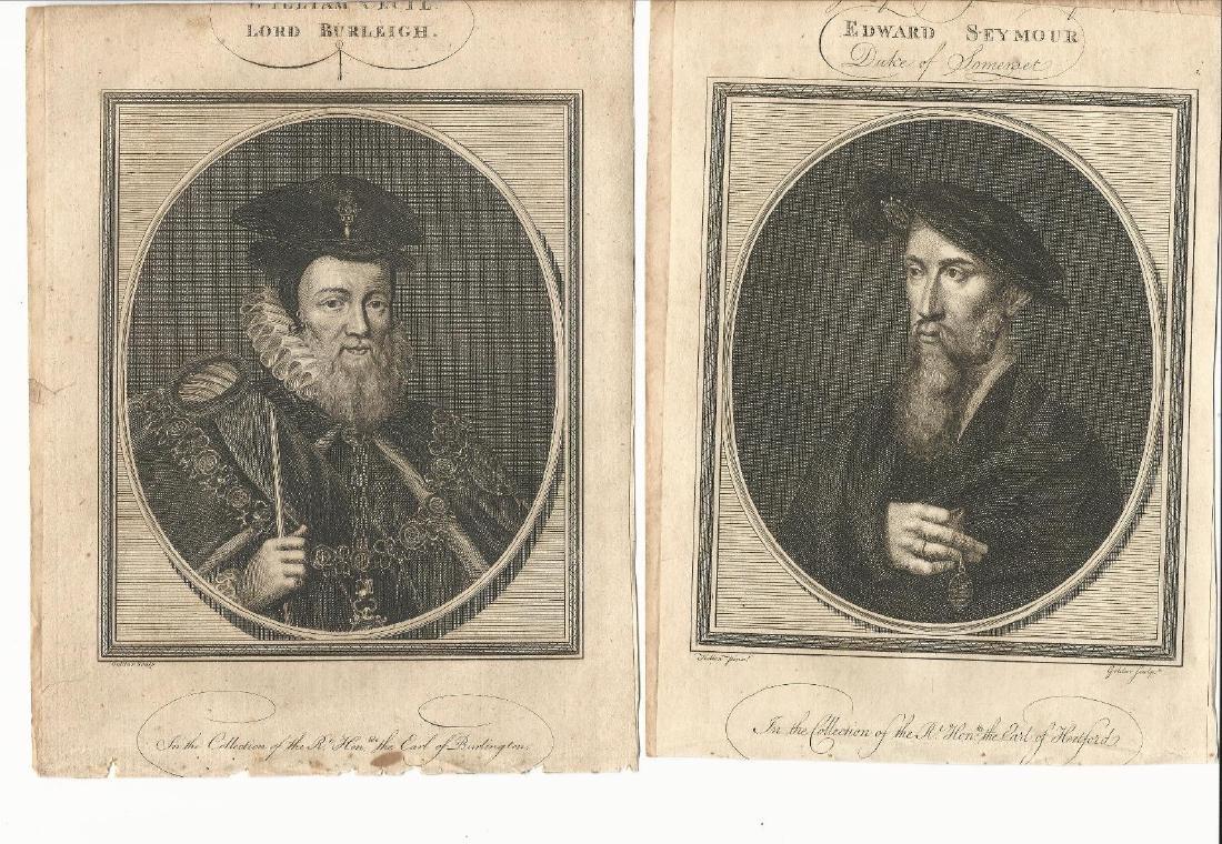 Four Engraved Portraits Tudors, 1785 - 2