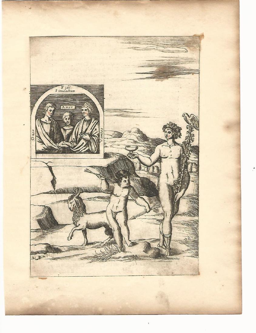 Mythological Engraving Vincenzo Cartari,1587