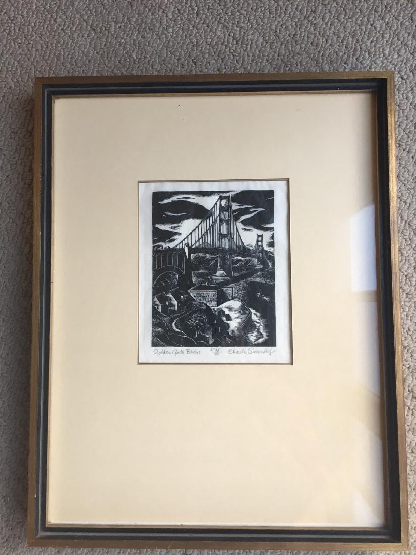 Lot of 3 Framed Wood Engravings by Charles Surendorf - 2