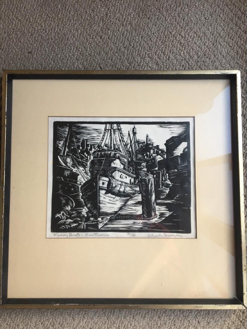 Lot of 3 Framed Wood Engravings by Charles Surendorf - 3