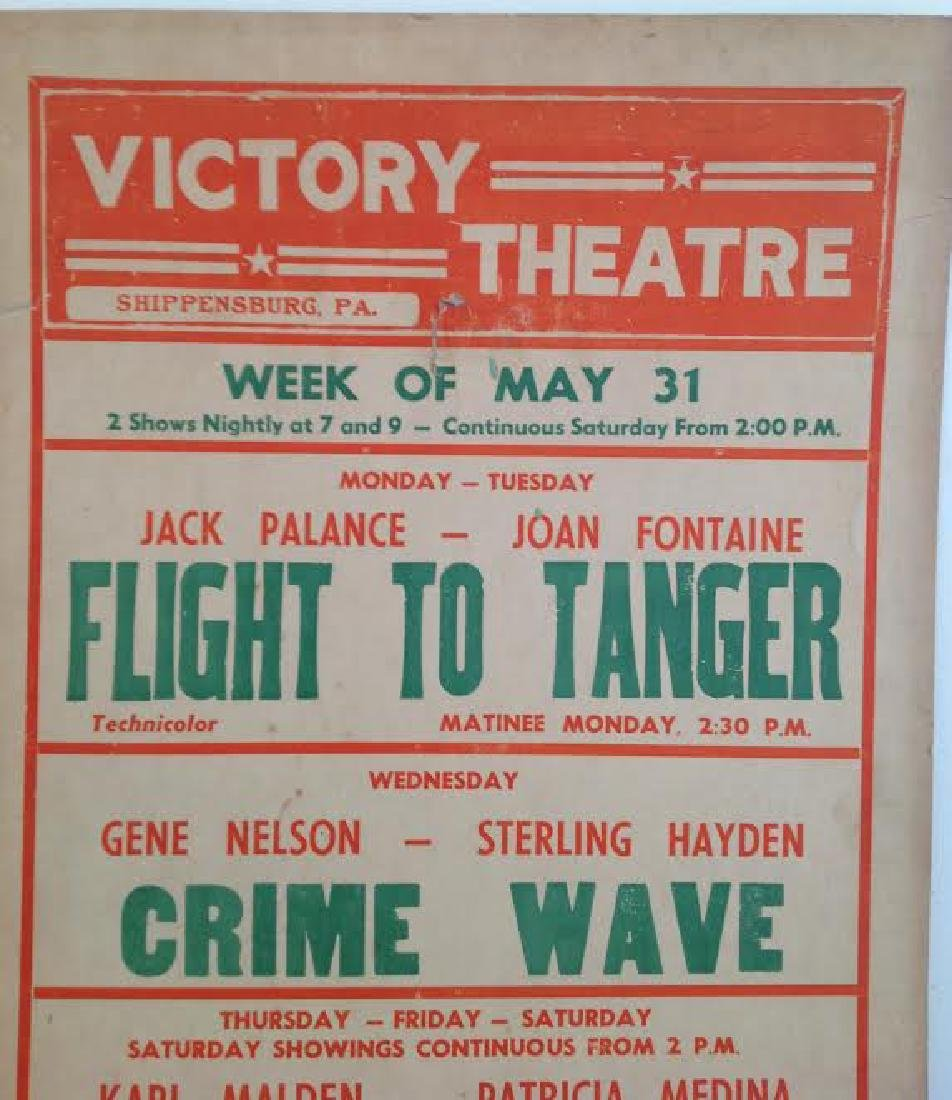 Vintage Victory Theatre Movie Poster, 1950's - 3