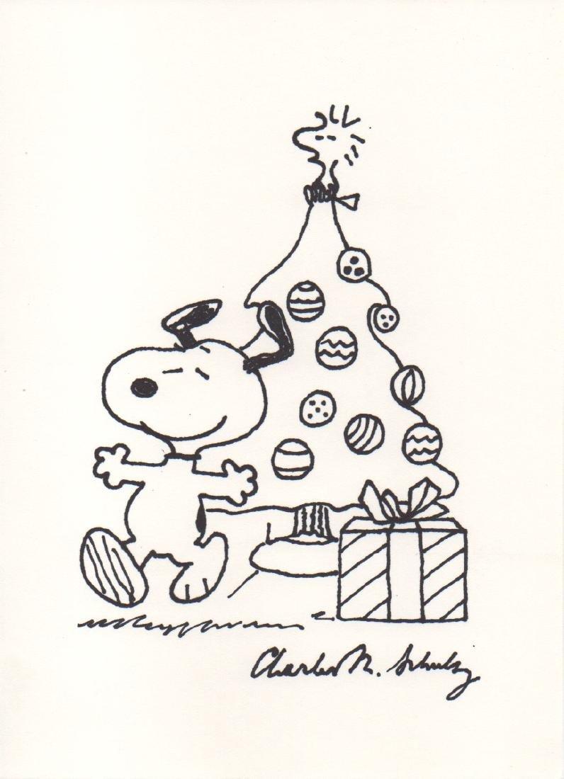 Charles Schulz Snoopy Drawing, 1980