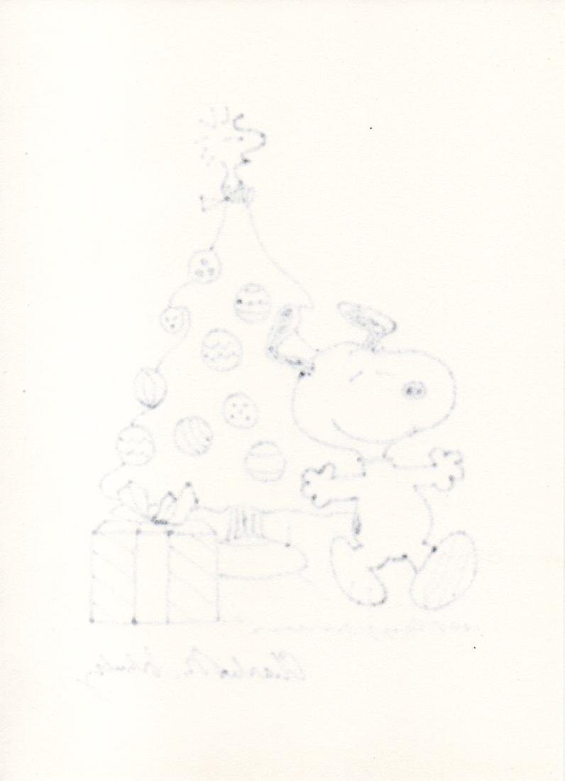 Charles Schulz Snoopy Drawing, 1980 - 2