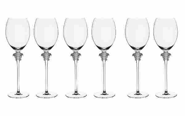 Set 6 Rosenthal Meets Versace Lumiere Red Wine Glasses