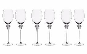 Set 6 Rosenthal / Versace Lumiere White Wine Glasses