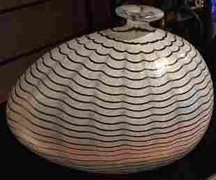 "Kosta Boda ""Aphrodite"" Iridescent Glass Vase"