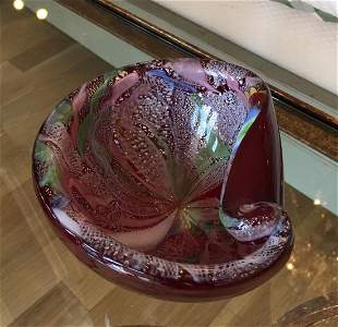 Superb Vintage Dino Martens Murano Glass Bowl