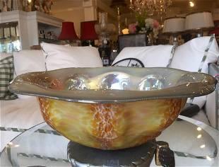 Vintage Modern Art Glass Bowl