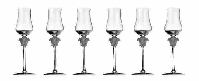 Set 6 Rosenthal Meets Versace Lumiere Grappa Glasses