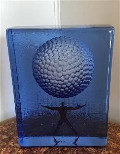 Rare Signed Kosta Boda Art Glass Sculpture