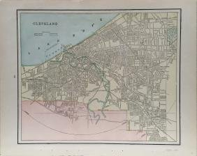 Cram's Cleveland Map