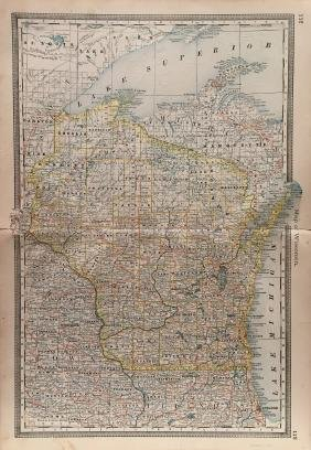 J. H. Colton: Wisconsin Map