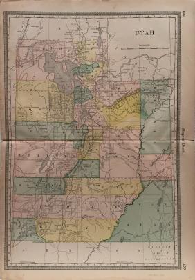 J. H. Colton: Utah Map