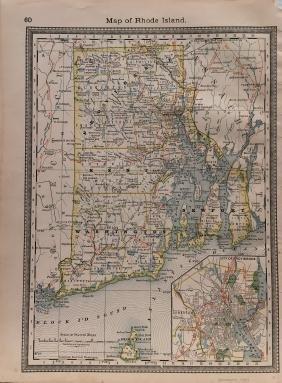 J. H. Colton: Rhode Island Map