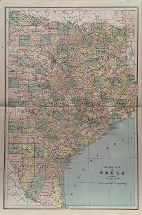 Cram's East Texas Map