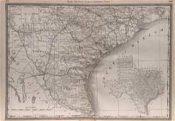 Rand Mcnally & Co.'s Railroad Map Of South Texas