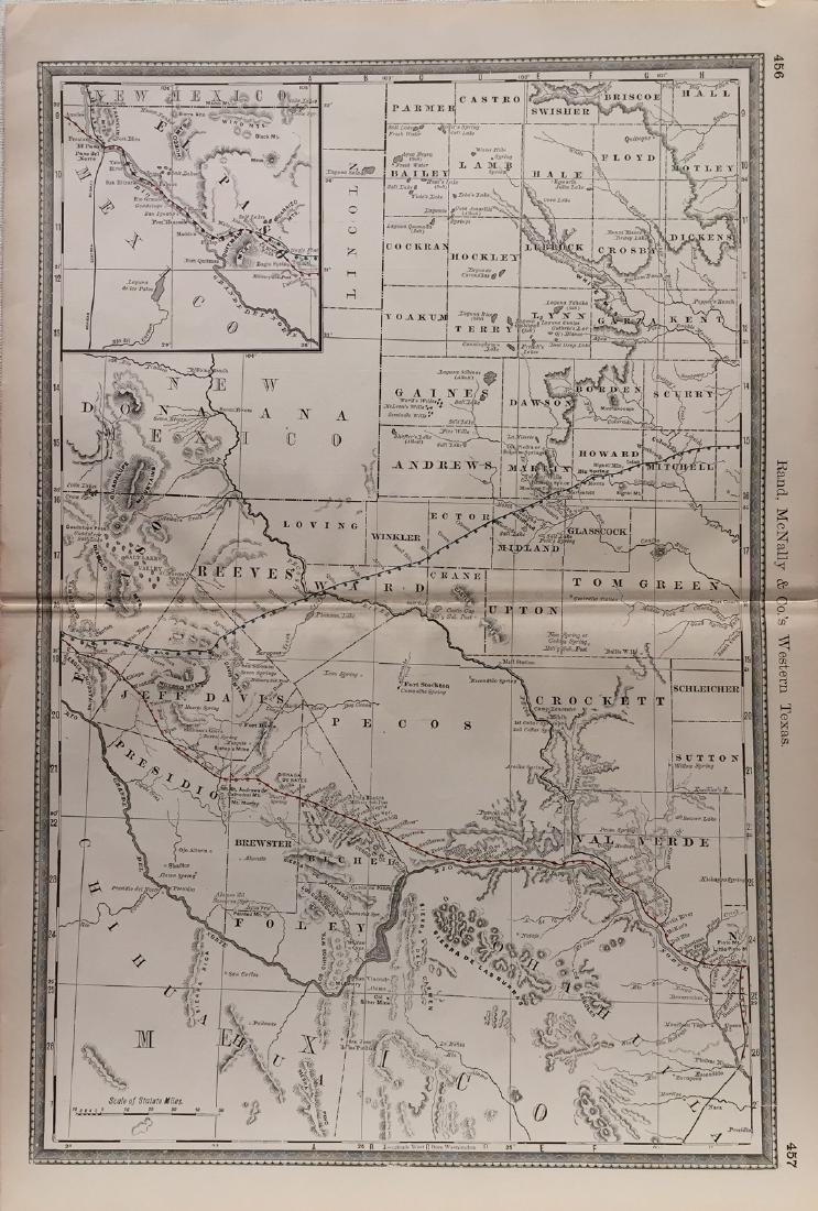 Rand Mcnally & Co.'s Railroad Map Of West Texas