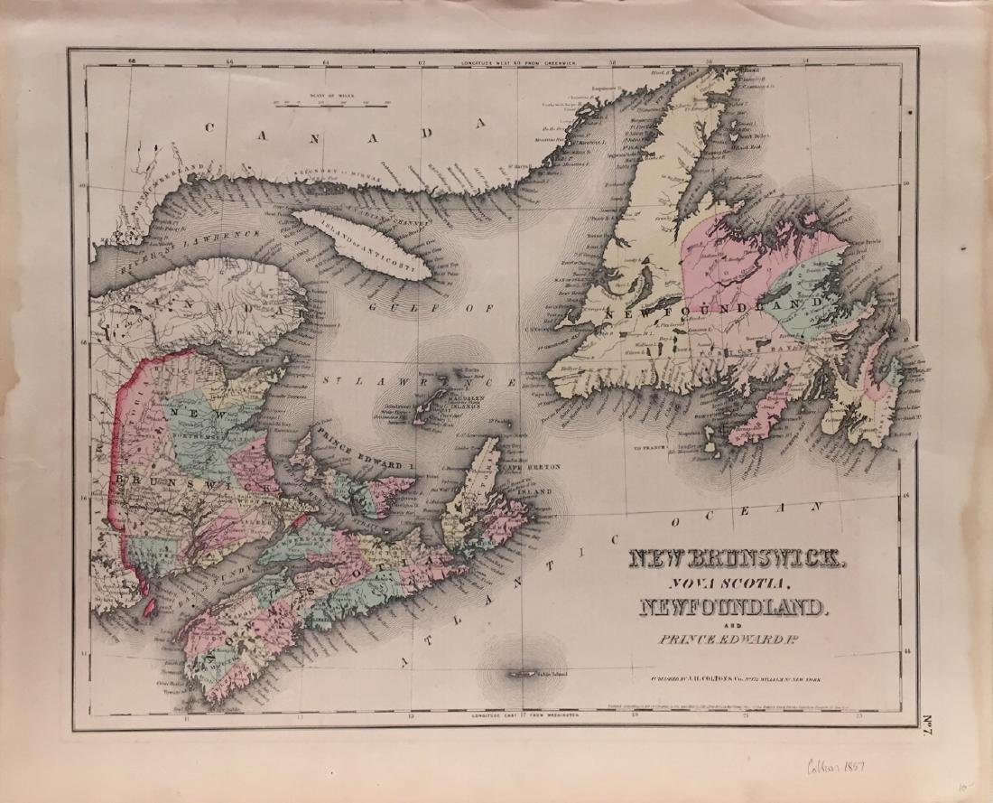 Colton Eastern Canada Map