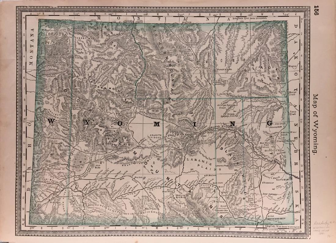 J. H. Colton: Wyoming Map