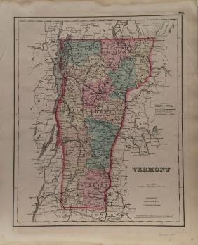 J. H. Colton: Vermont Map