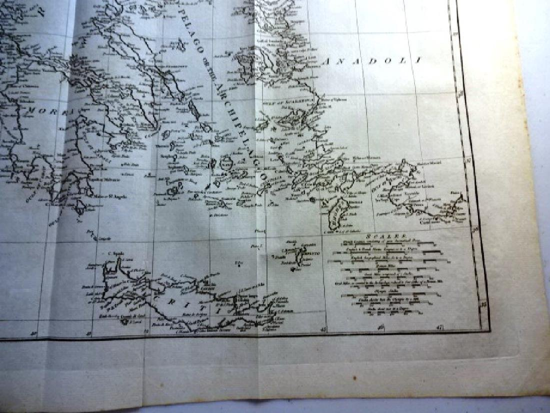 1788 Map The Coasts Of Greece & the Archipelago H.Rapin - 2