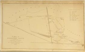 Map Plan of Newmarket Heath Horseracing Course 1840