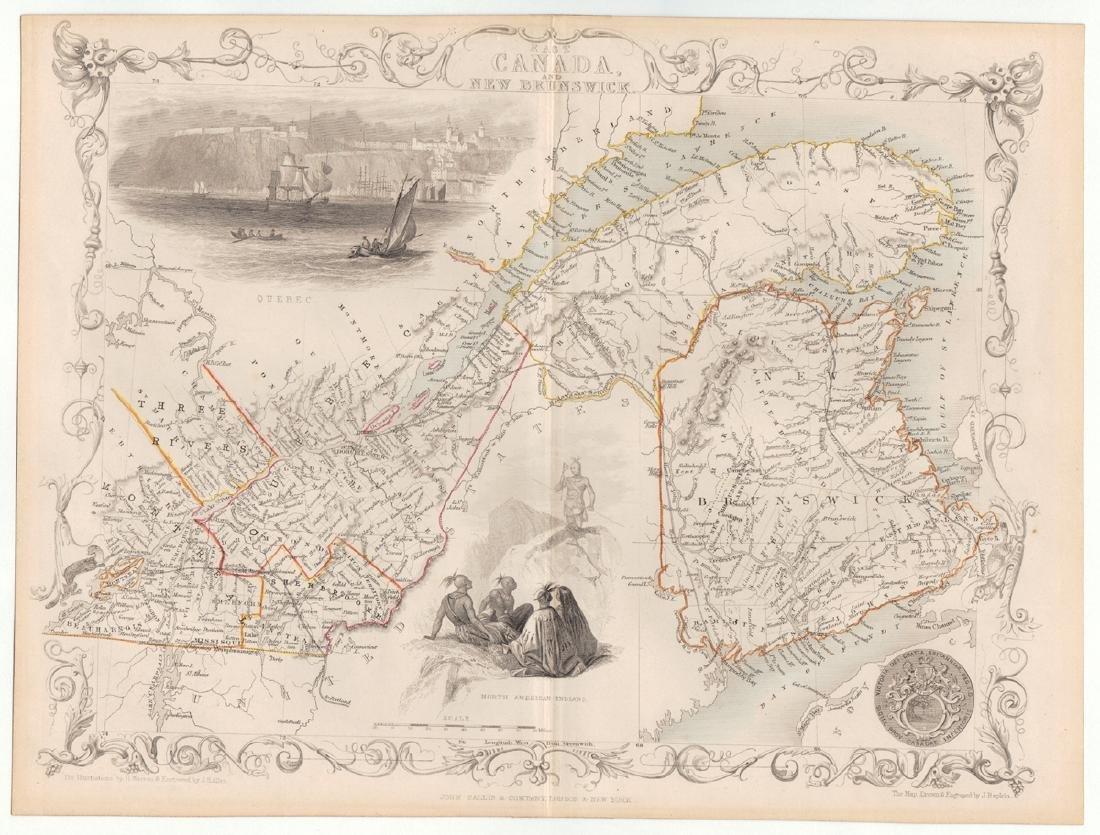 John Rapkin Map Of East Canada & New Brunswick, 1851