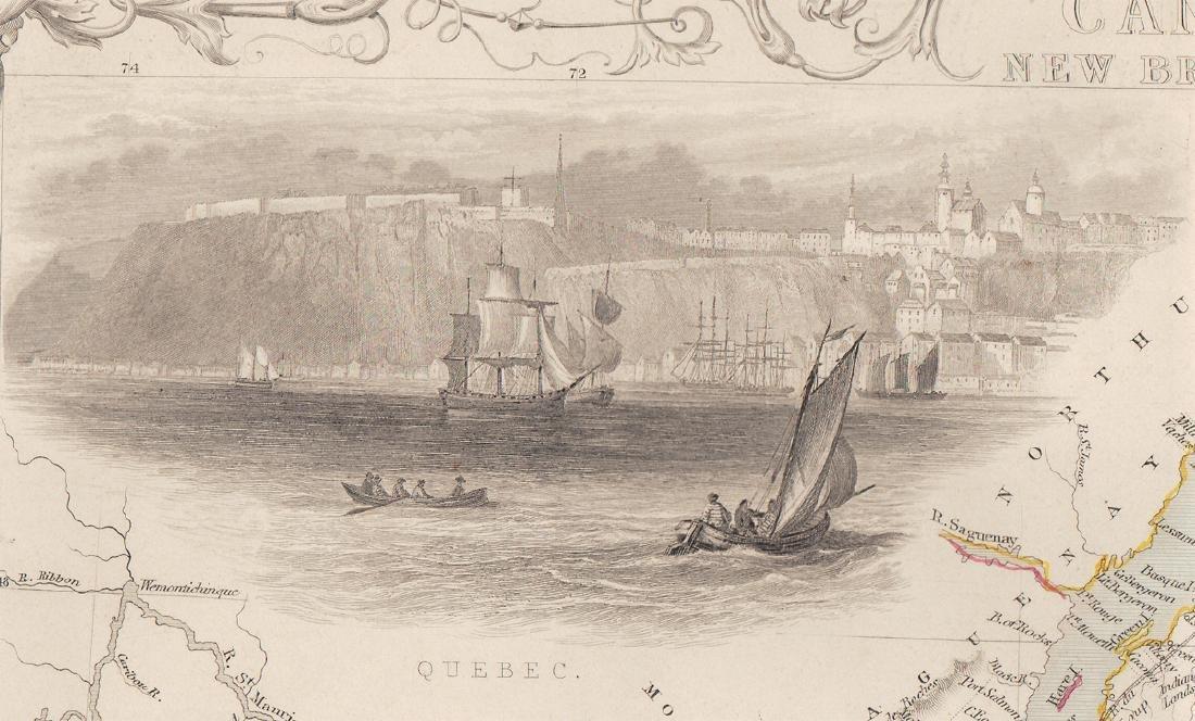 John Rapkin Map Of East Canada & New Brunswick, 1851 - 3