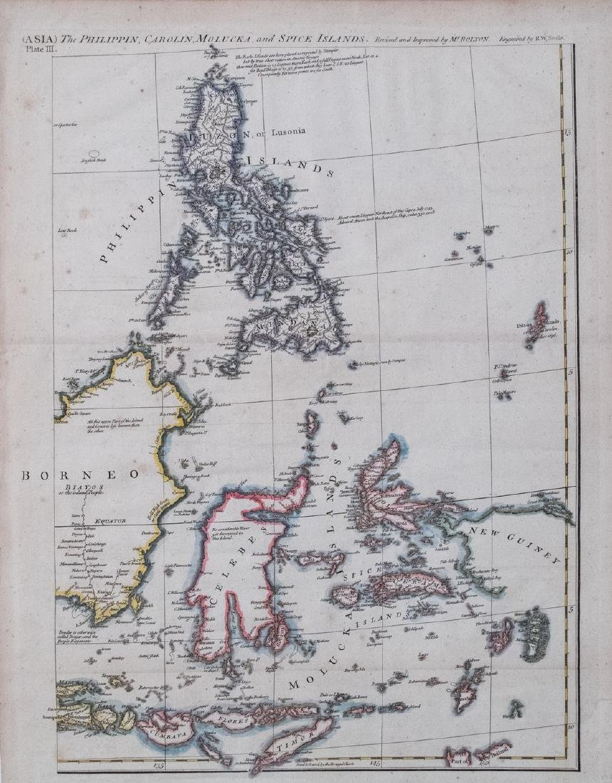 1763 Seale Map Philippines Spice Islands & Celebes