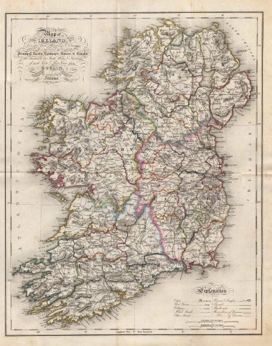 Map Of Ireland, Divided Into Provinces & Counties