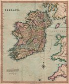 Antique Map Of Ireland By Henry Teesdale 1831