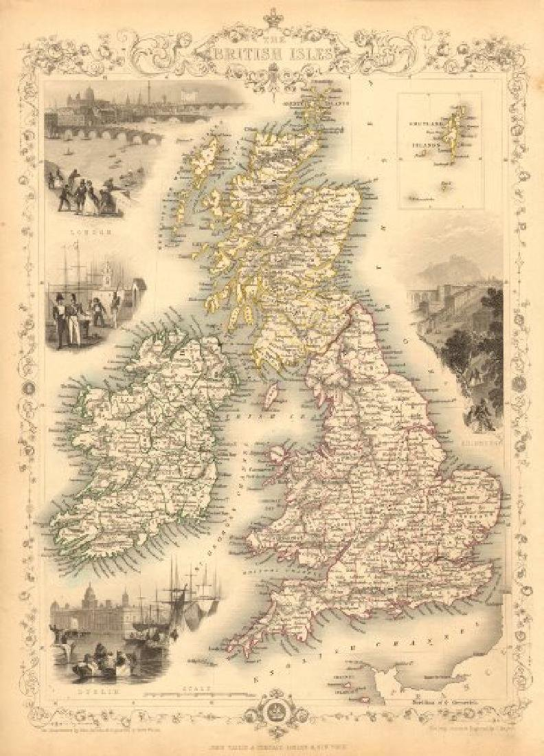 British Isles: C England Wales Scotland Ireland Map