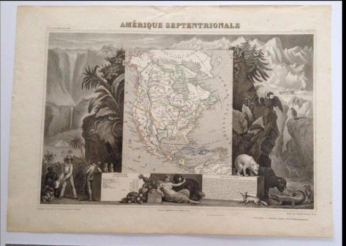 Amerique Septentrionale Victor Levasseur Map