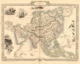 Tartary Siam Persia Cabool Cochinchina East Indies Map