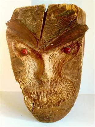 Primitive Hand Carved Wood Sculpture