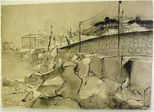 Daniel Rasmusson Ink & Wash Drawing