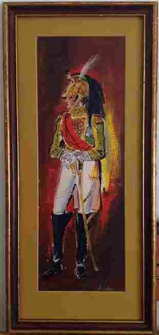 Vintage Mexican Imperial Troop Legionnaire Watercolor